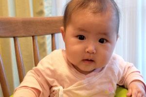 娘の成長記録(4ヶ月)